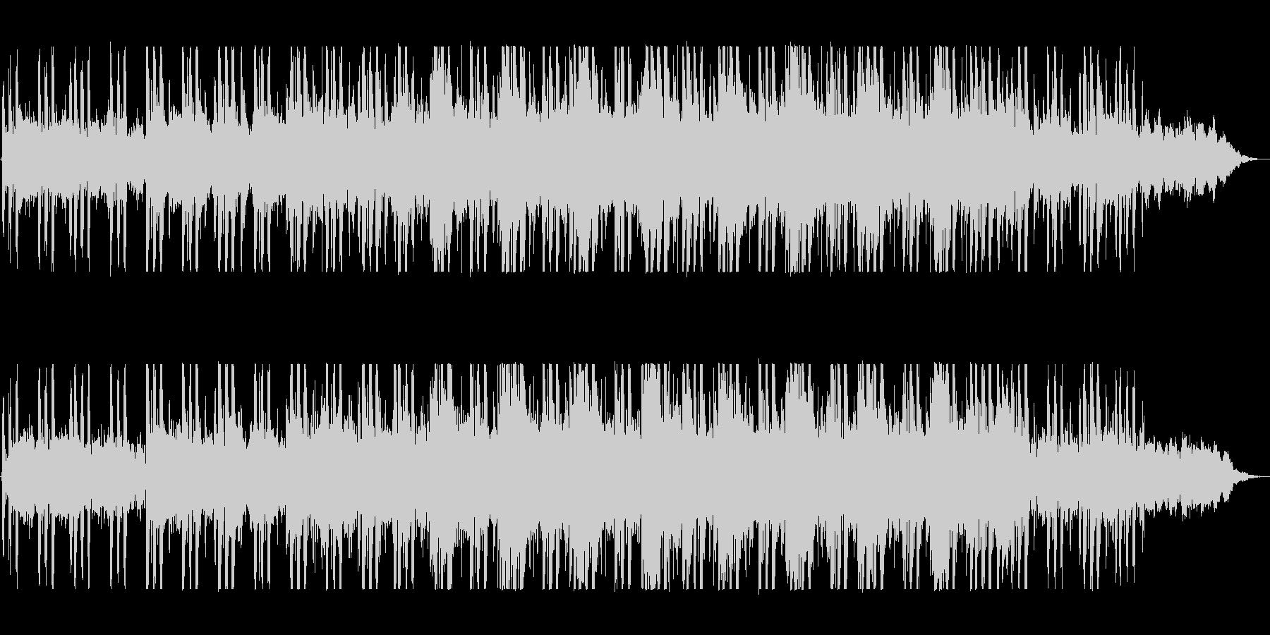 神秘的でゆったりとしたメロディーの未再生の波形