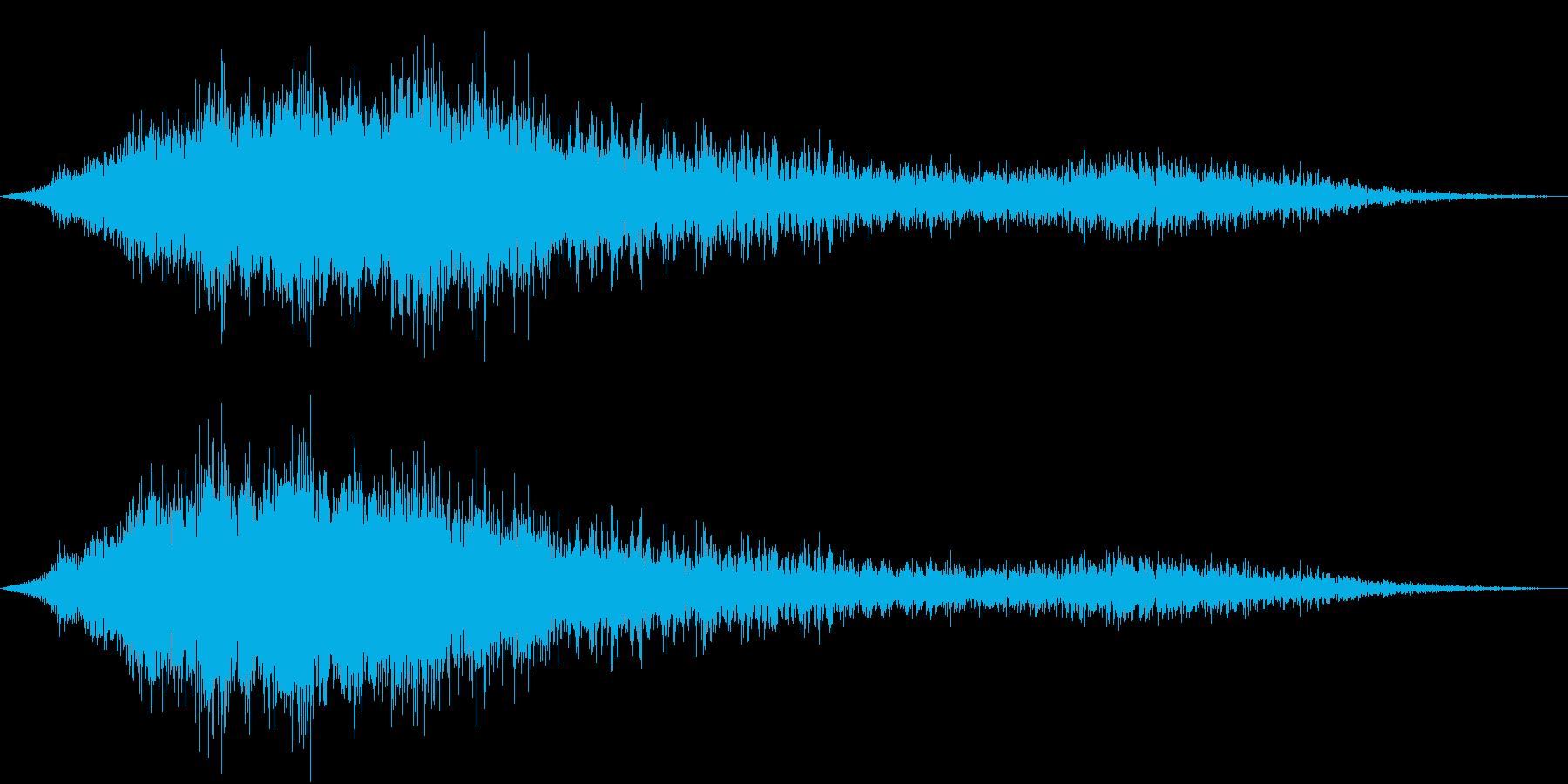 文字出現インパクト(シュバーッ)の再生済みの波形