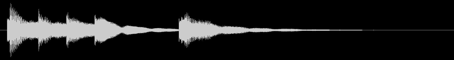 穏やかなアコギとピアノのジングルの未再生の波形
