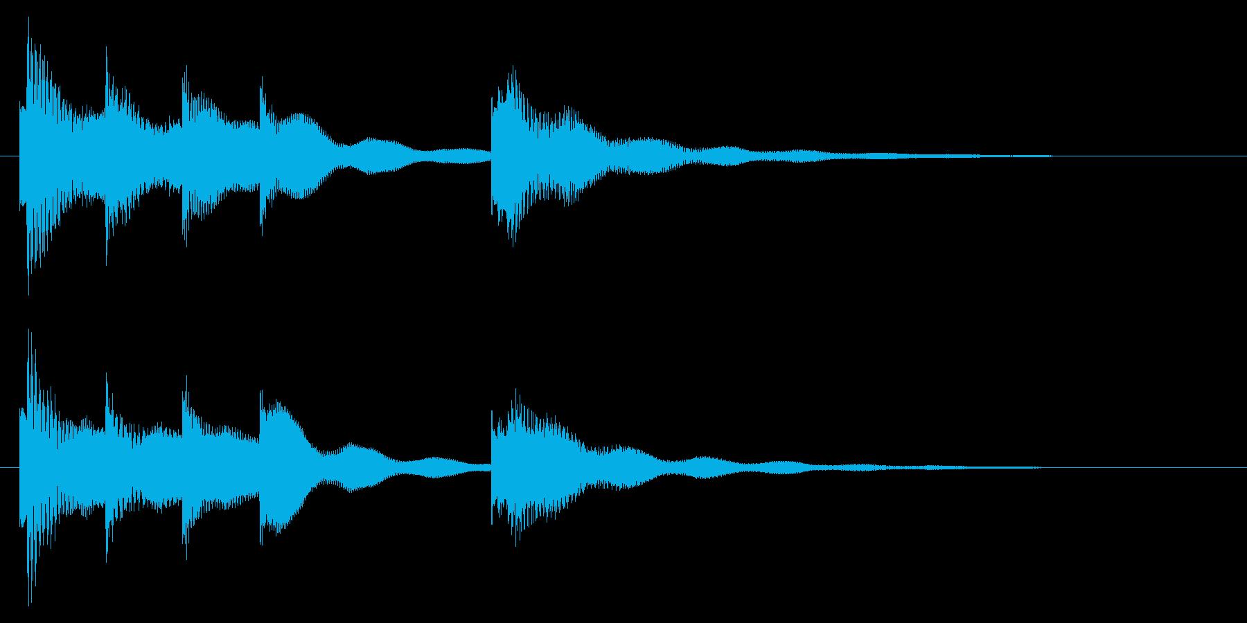 穏やかなアコギとピアノのジングルの再生済みの波形