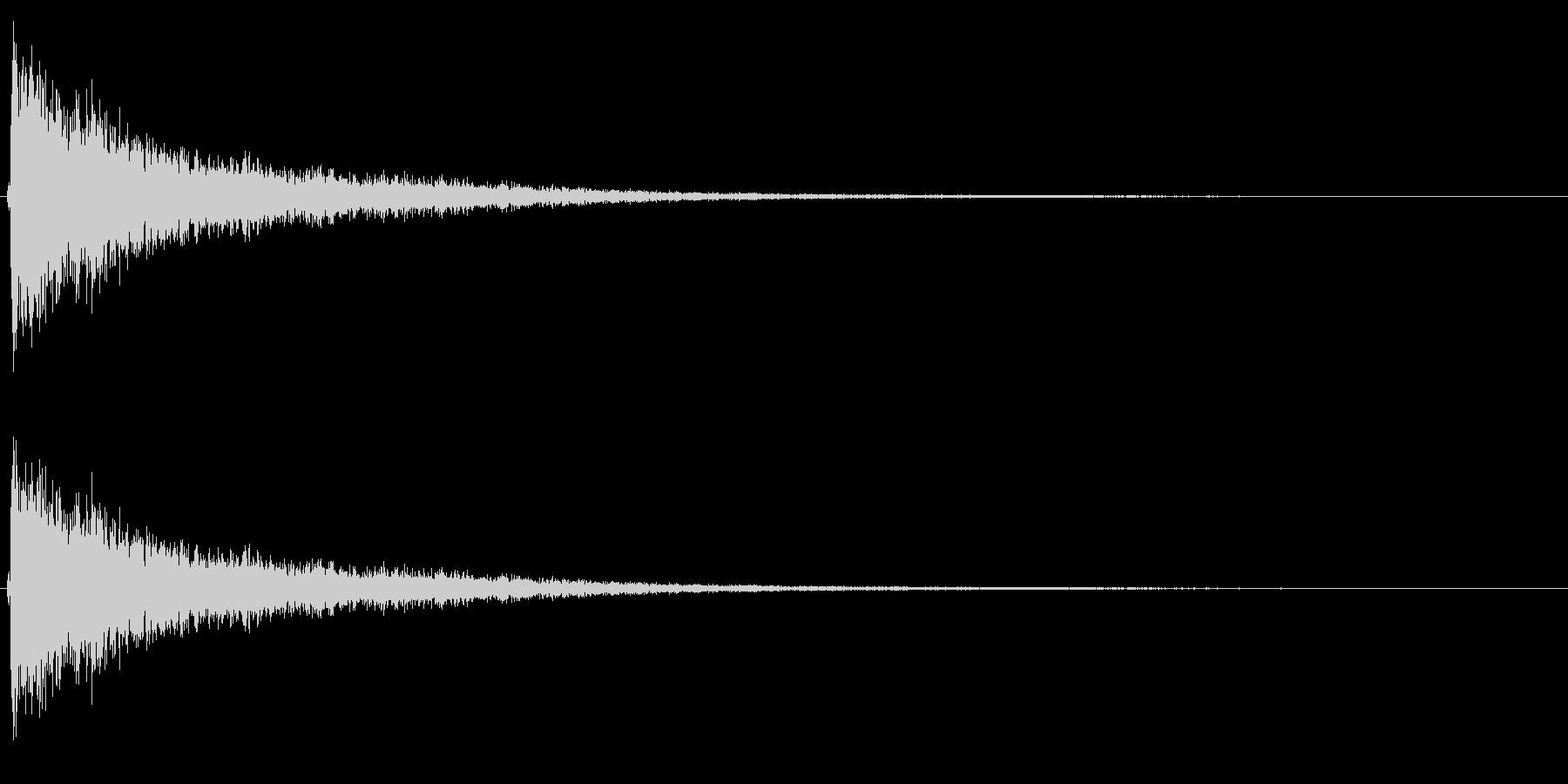シンバル音(高音・短め)の未再生の波形
