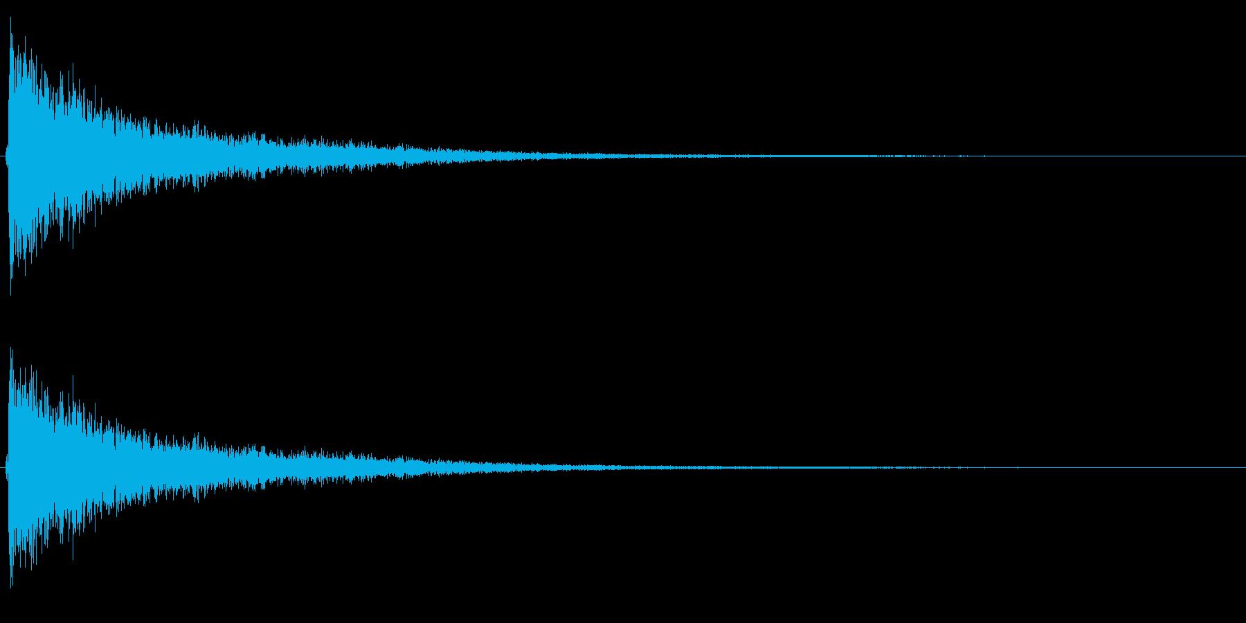 シンバル音(高音・短め)の再生済みの波形