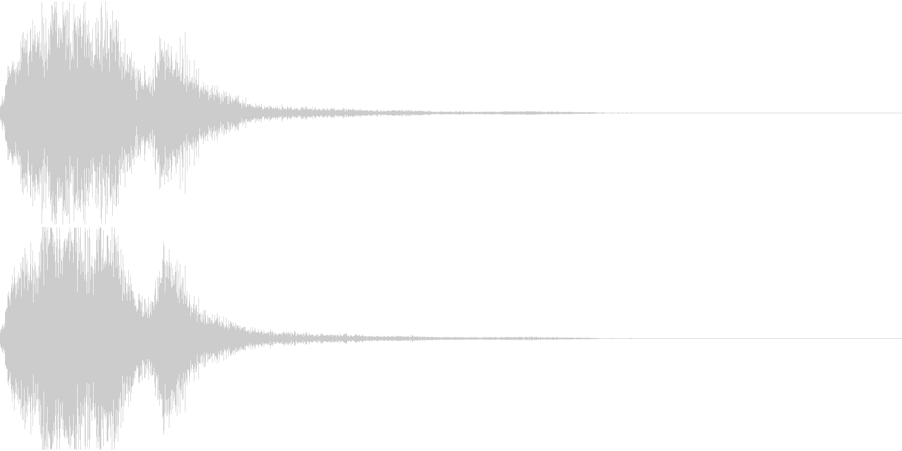 ラッパ ファンファーレ 定番 24 早いの未再生の波形