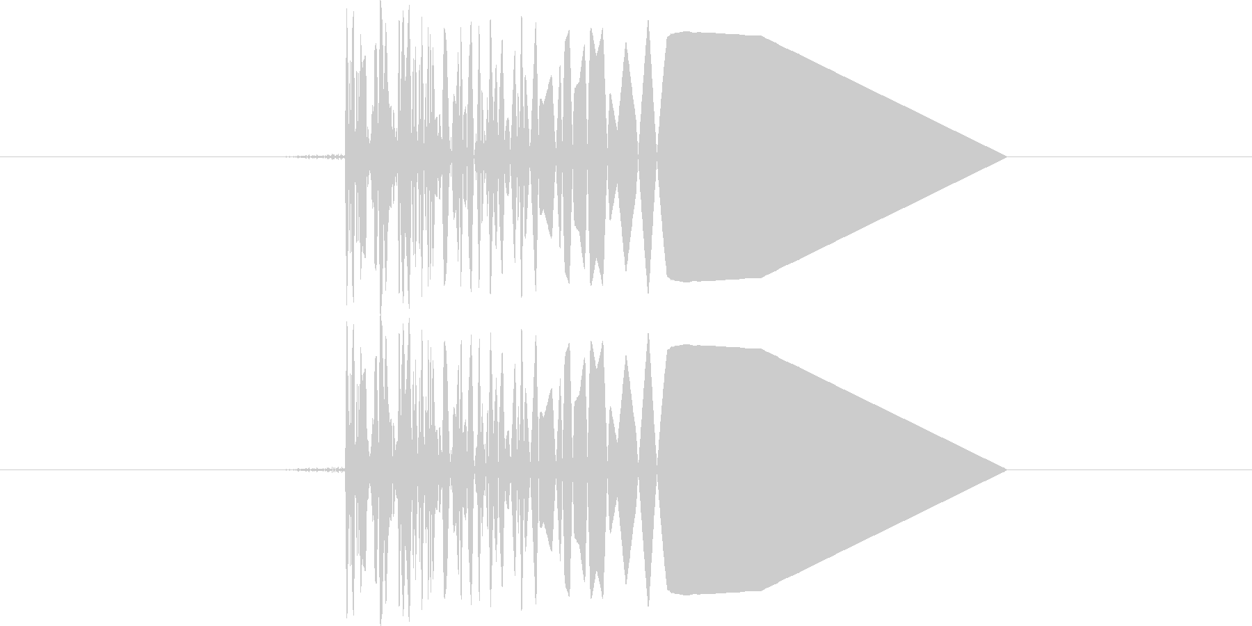 ファミコン系歩く音02 コツコツ(単音)の未再生の波形