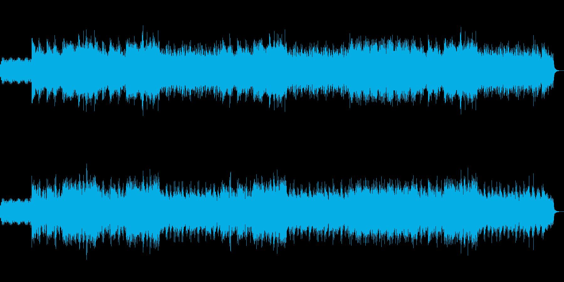 ストリングスとシロフォンによる壮大な曲の再生済みの波形