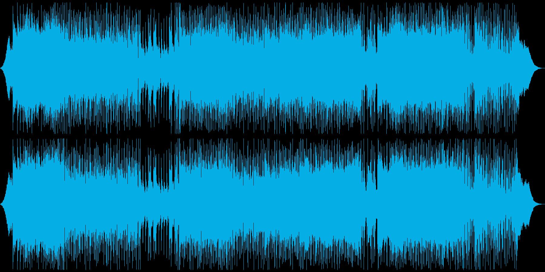 戦闘曲をイメージしたロックの再生済みの波形
