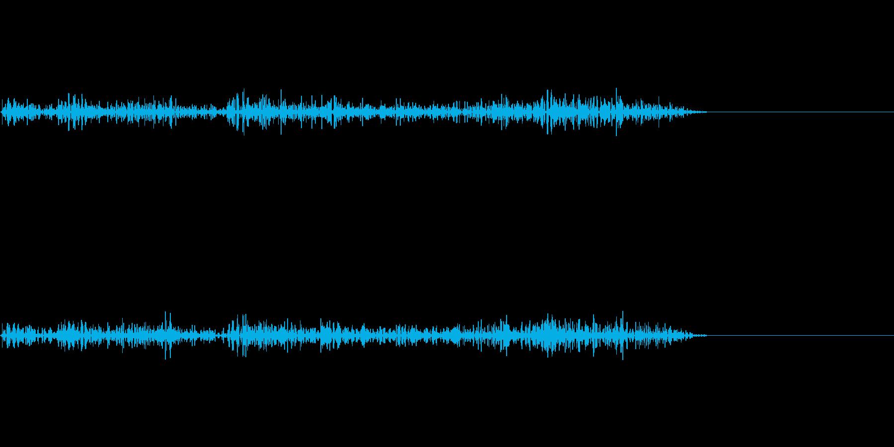 炎系魔法などに ゴーーっとした効果音の再生済みの波形