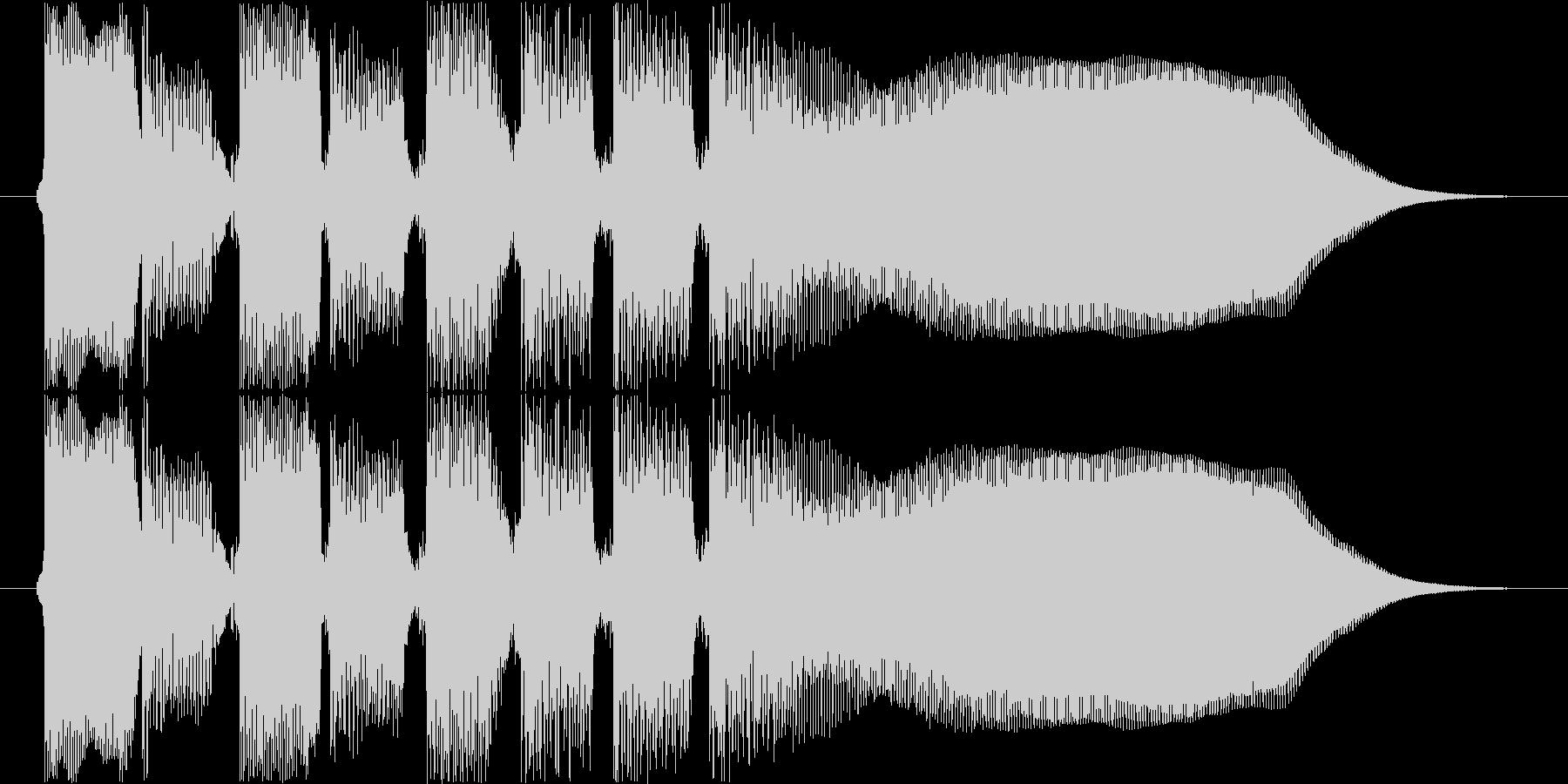中国系音階のギターハーモニクスフレーズの未再生の波形