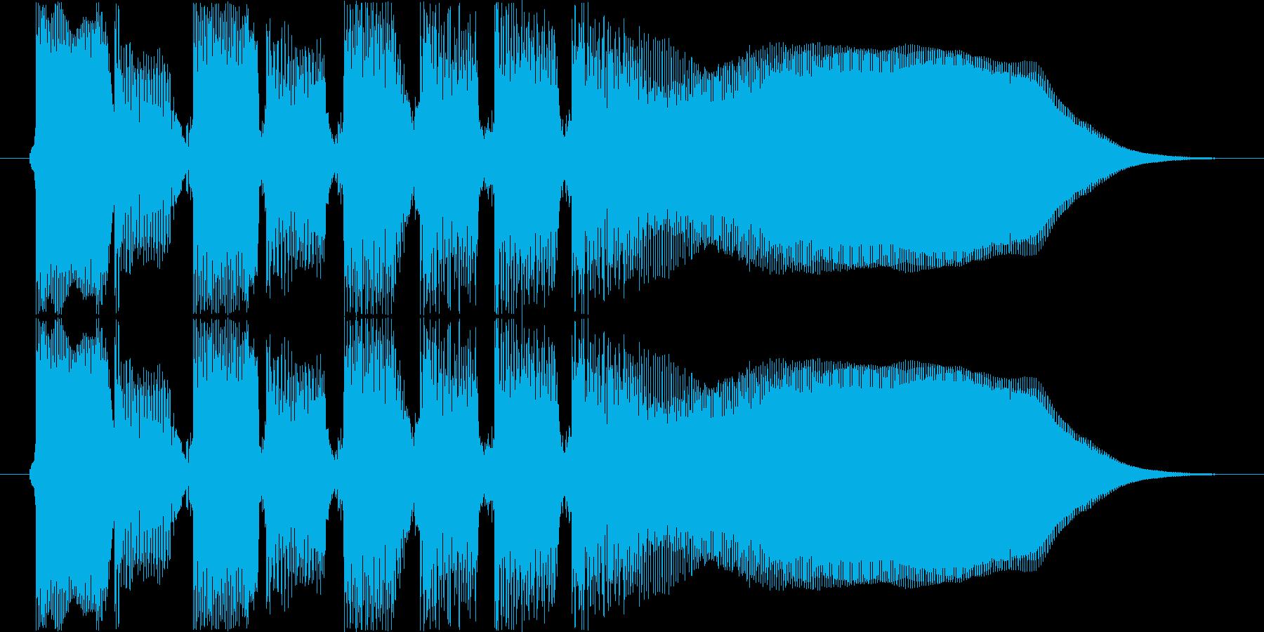 中国系音階のギターハーモニクスフレーズの再生済みの波形