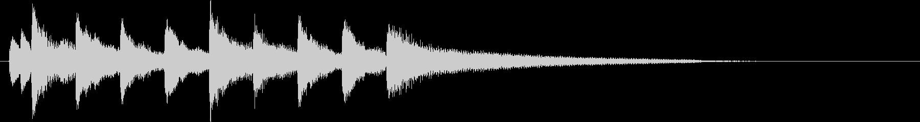 ピアノを使ったサウンドロゴの未再生の波形