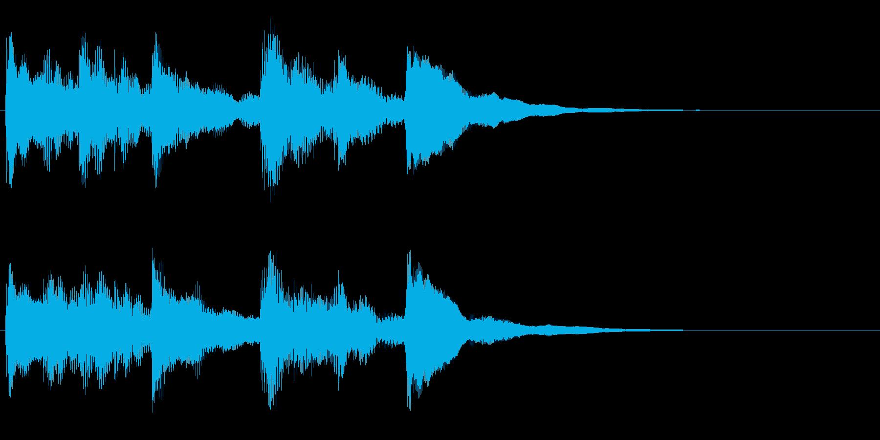 ほのぼのロゴの再生済みの波形