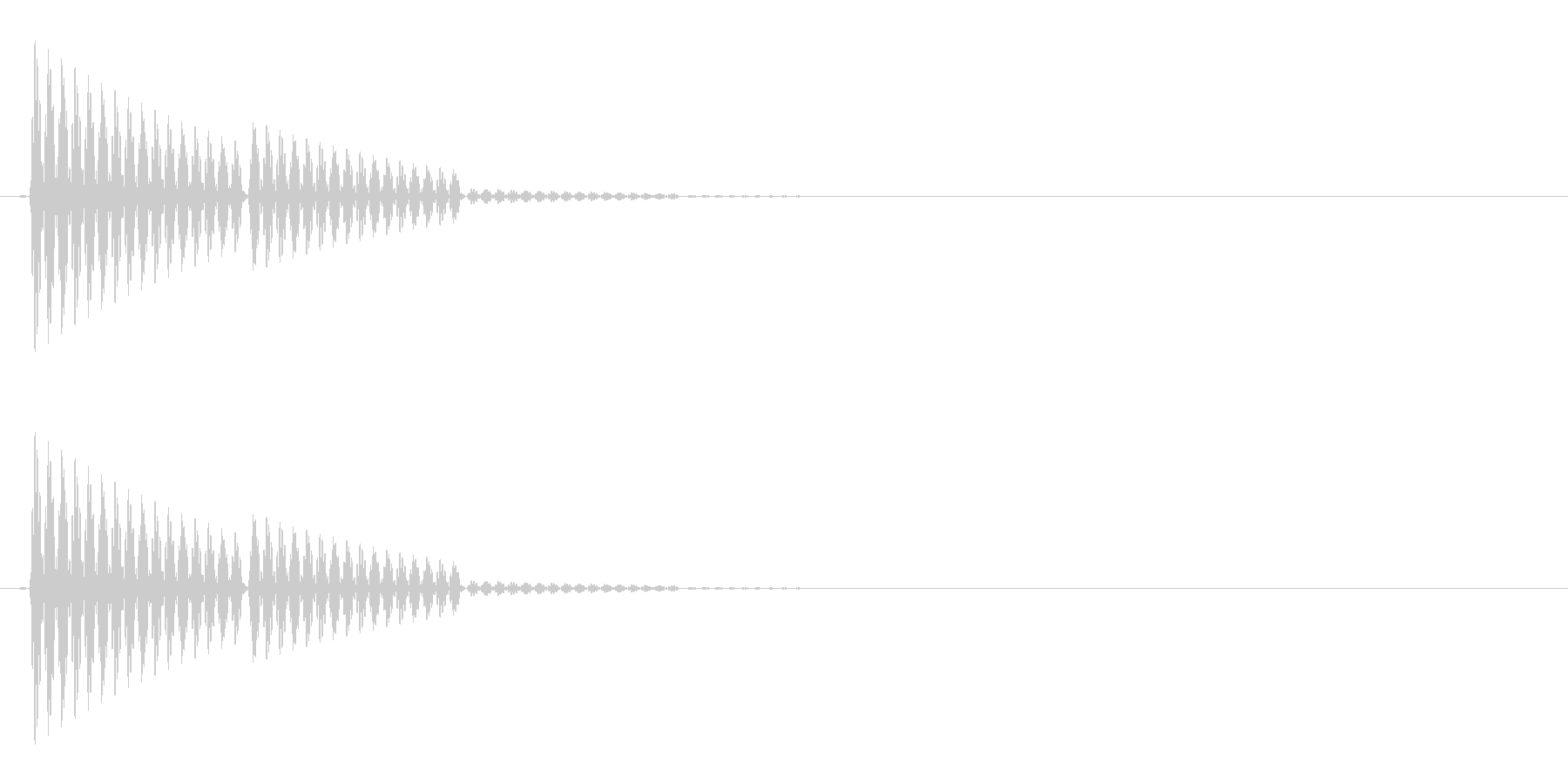 ポン(選択音/システム音/シンプル)の未再生の波形