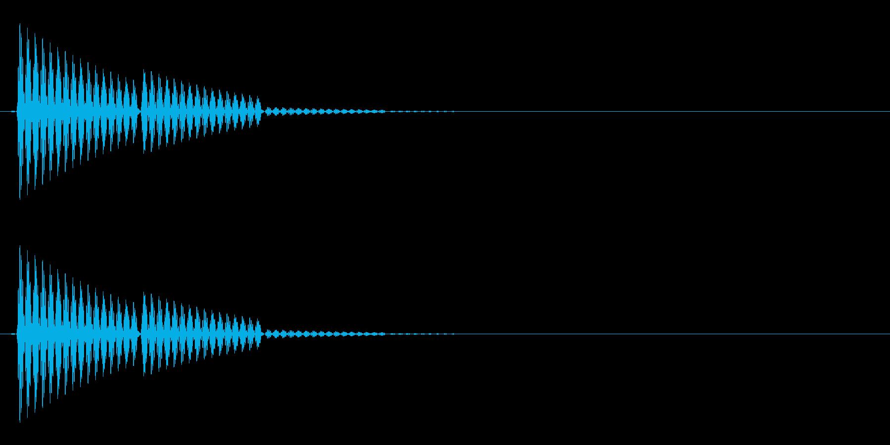 ポン(選択音/システム音/シンプル)の再生済みの波形