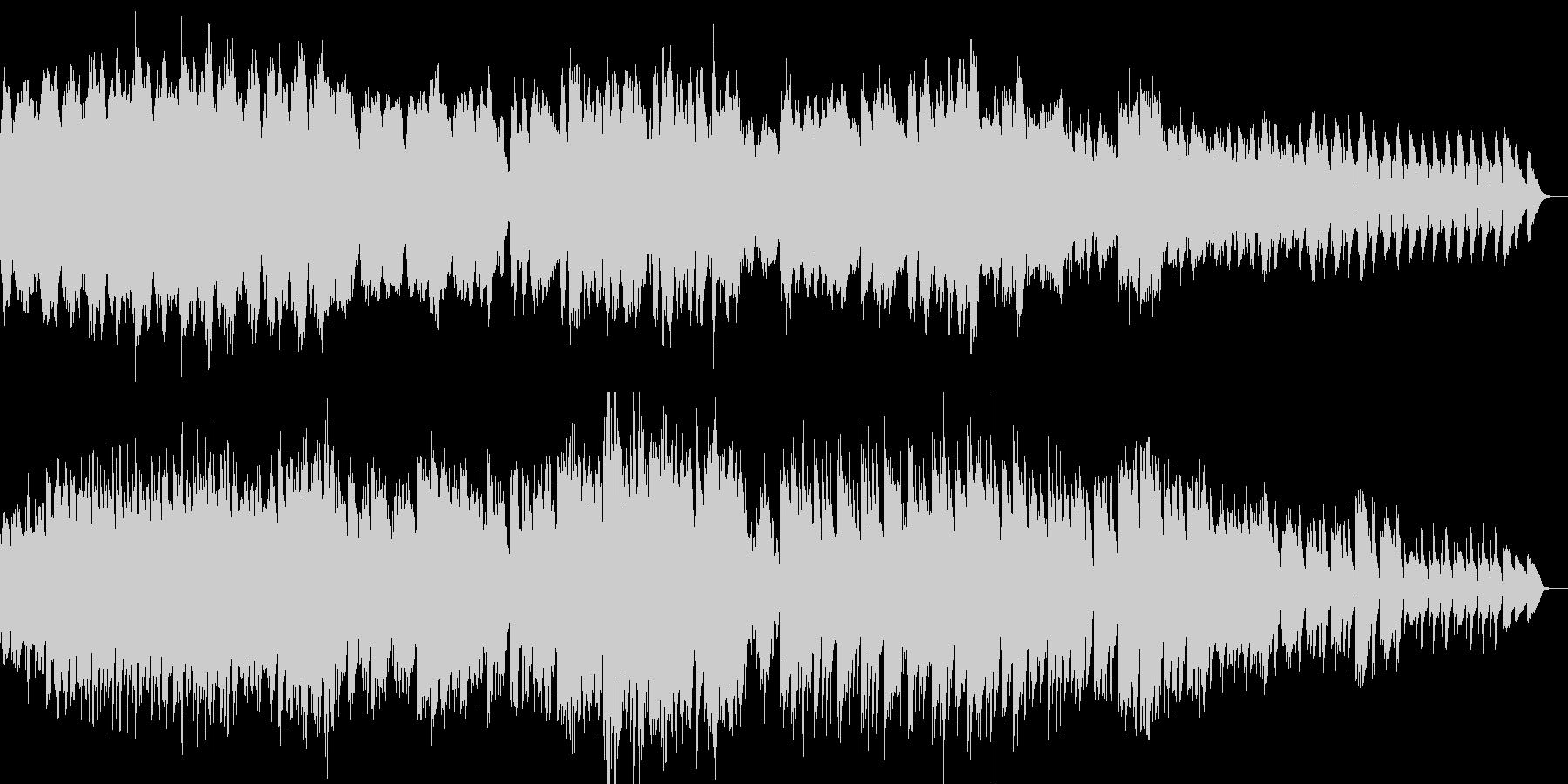ほのぼのした雰囲気の優しいピアノ曲の未再生の波形