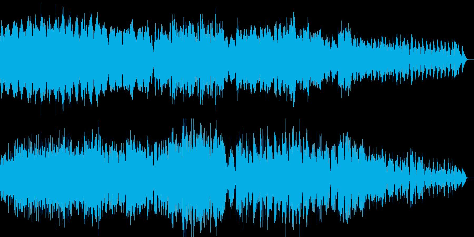 ほのぼのした雰囲気の優しいピアノ曲の再生済みの波形