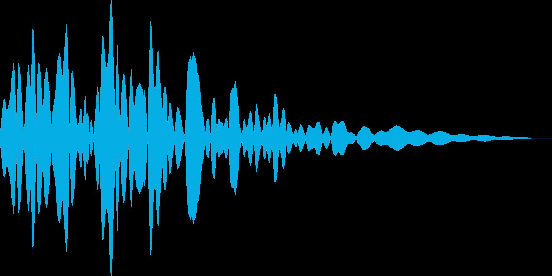 チリン(鈴 風鈴 タッチ音)の再生済みの波形