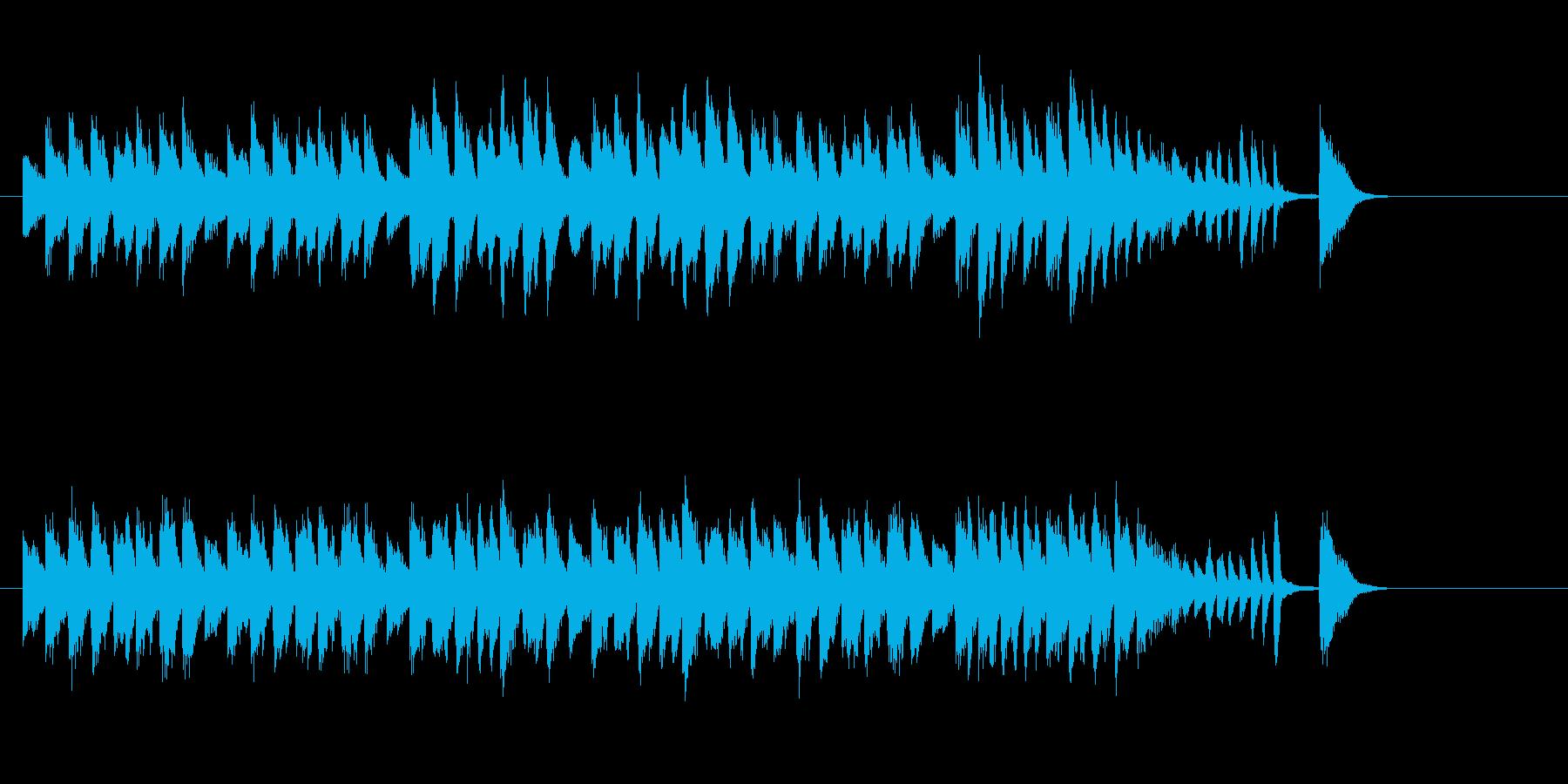コミカルでチープなマーチの再生済みの波形