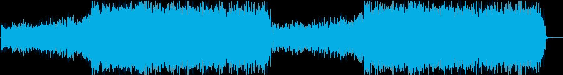 企業系CM風、感動爽やか曲の再生済みの波形