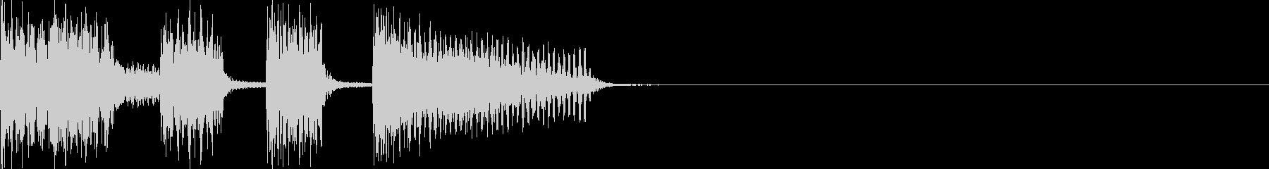 ジングル・ギターカッティングの未再生の波形