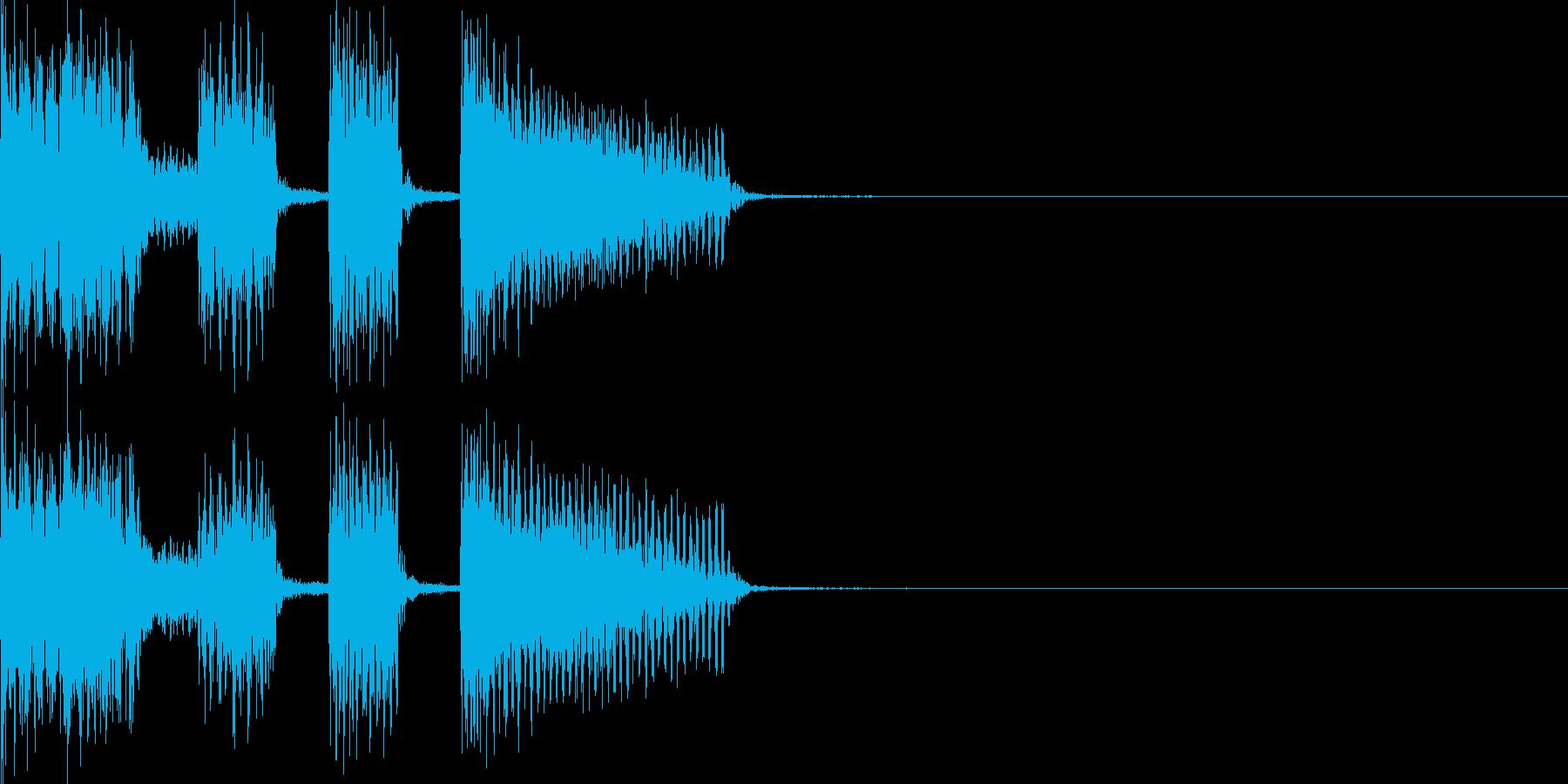 ジングル・ギターカッティングの再生済みの波形