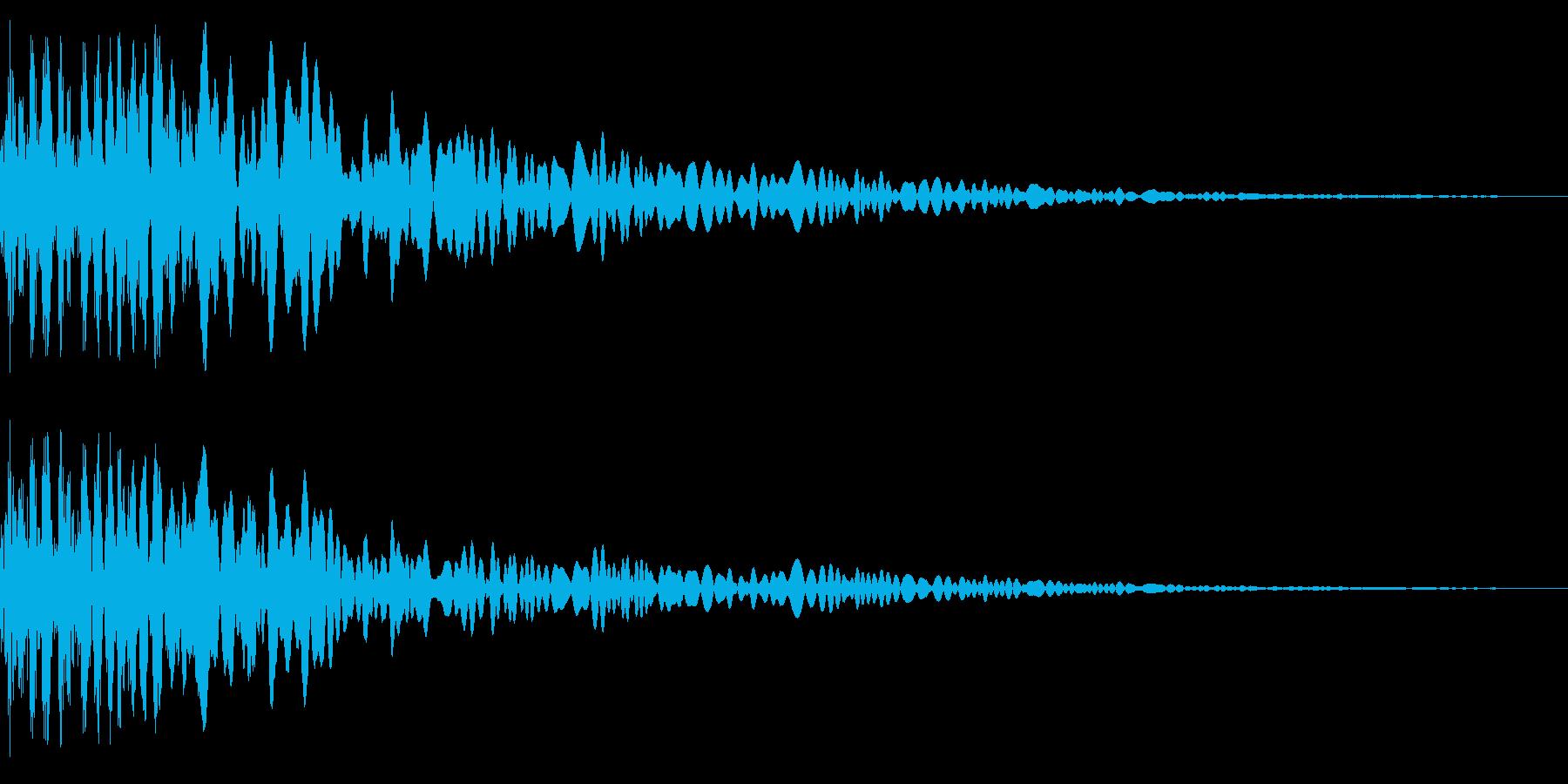 幽霊出現(鬼火出現)の再生済みの波形