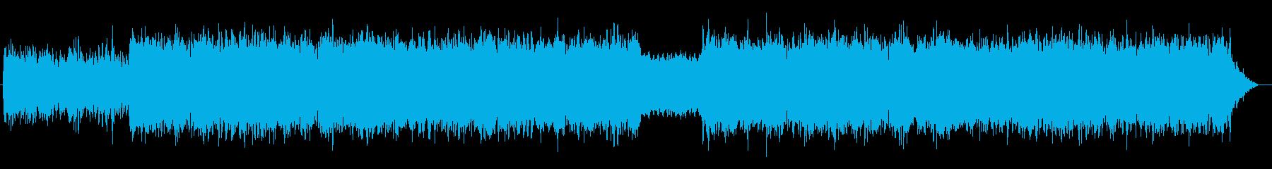 幻想的で浮遊感のあるアンビエントの再生済みの波形