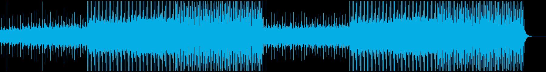 エレキギターがきれいめな聴きやすいテクノの再生済みの波形