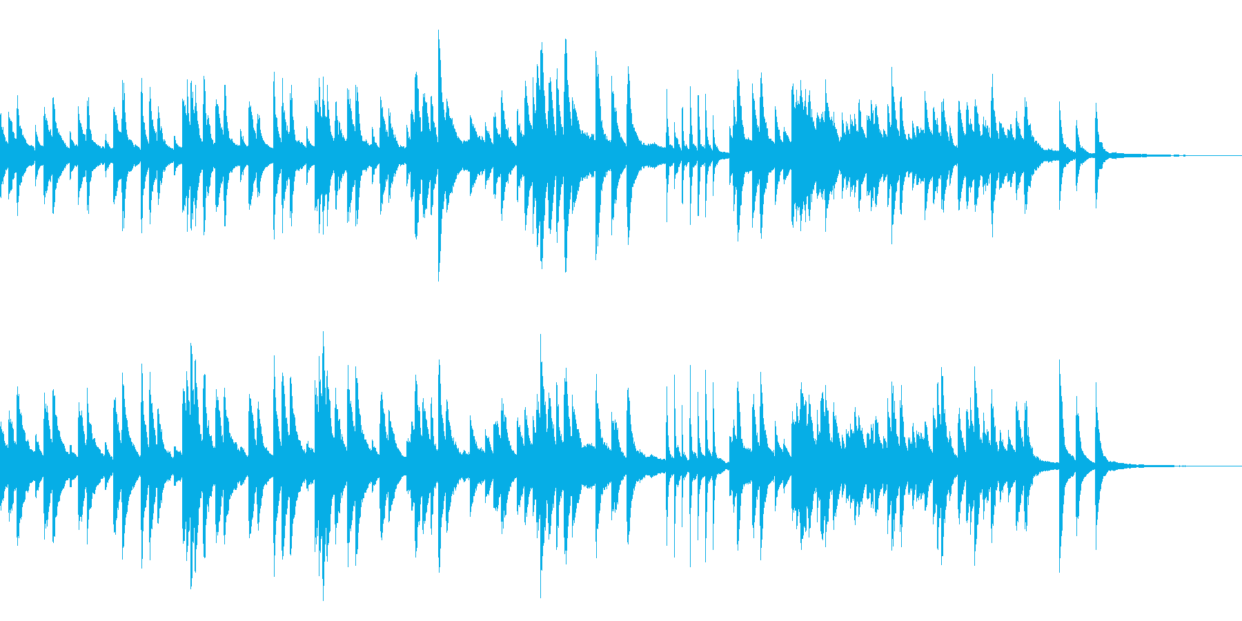 センチメンタルで少し切ないピアノ曲ですの再生済みの波形