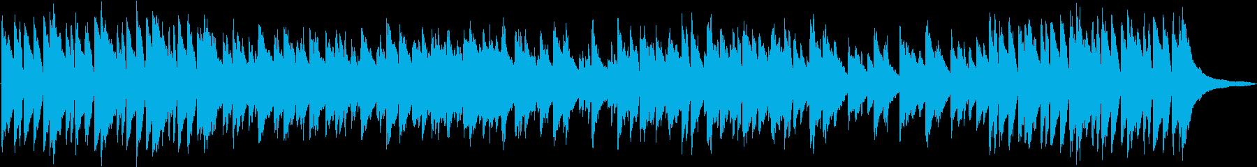 勇ましく歩き出すイメージのピアノ音源の再生済みの波形