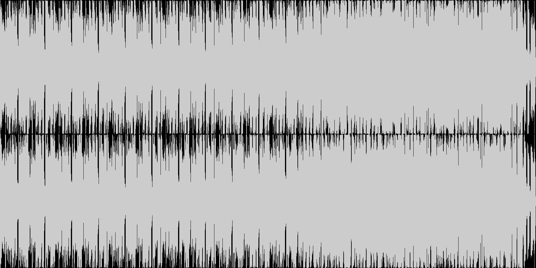 だんだんとリズミカルになるボサノバの未再生の波形