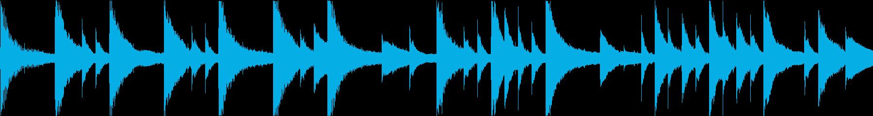 静かで切ないピアノアンビエントの再生済みの波形