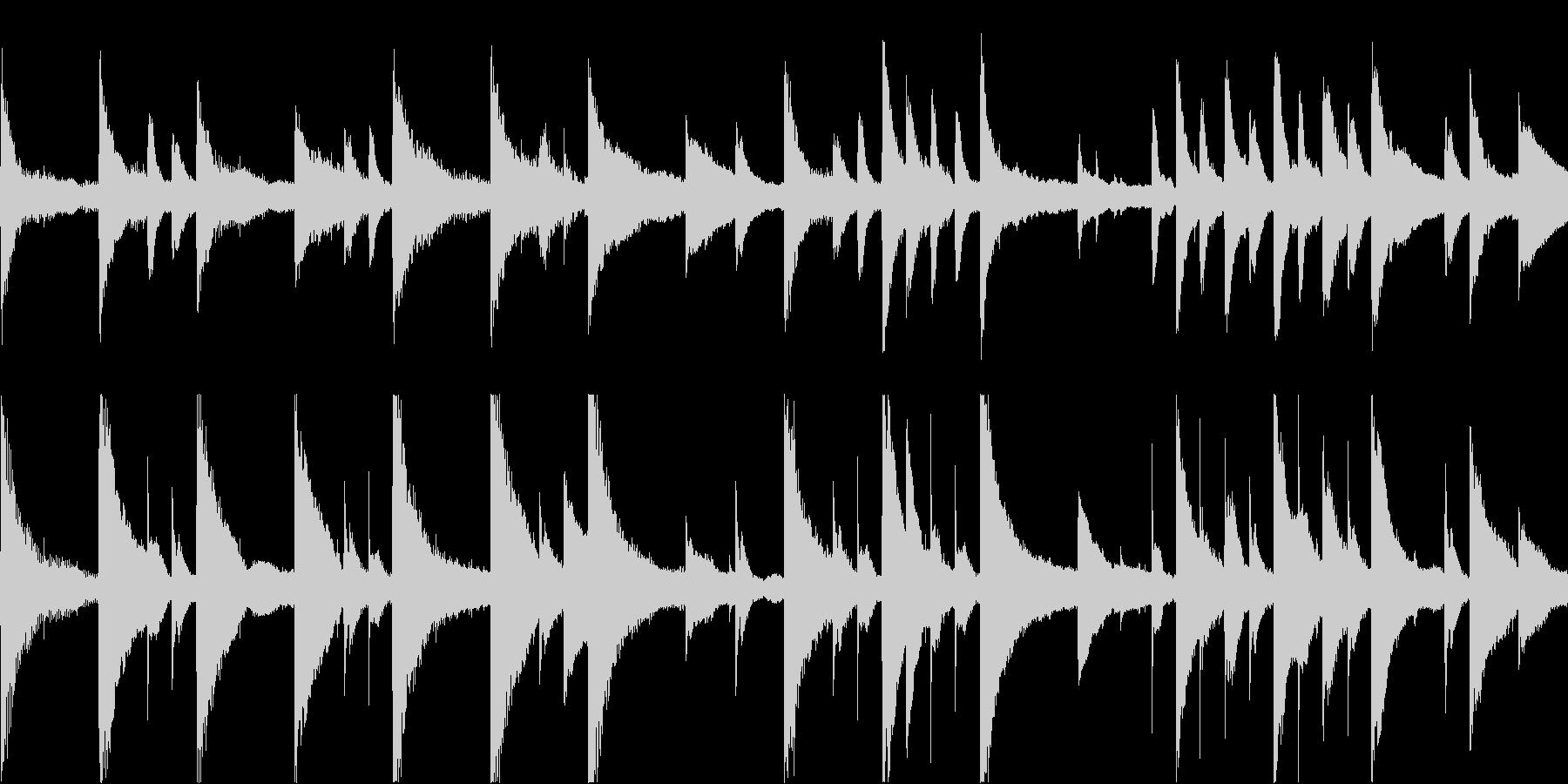 静かで切ないピアノアンビエントの未再生の波形