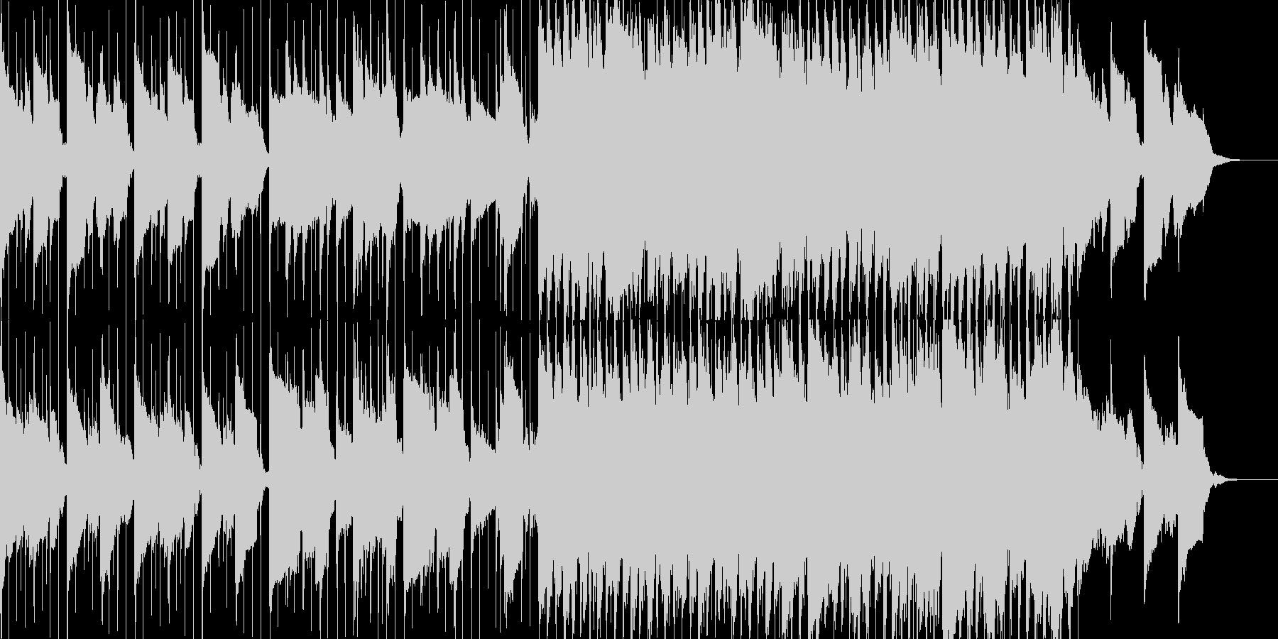 ゆったりした、わくわく感あるBGMの未再生の波形