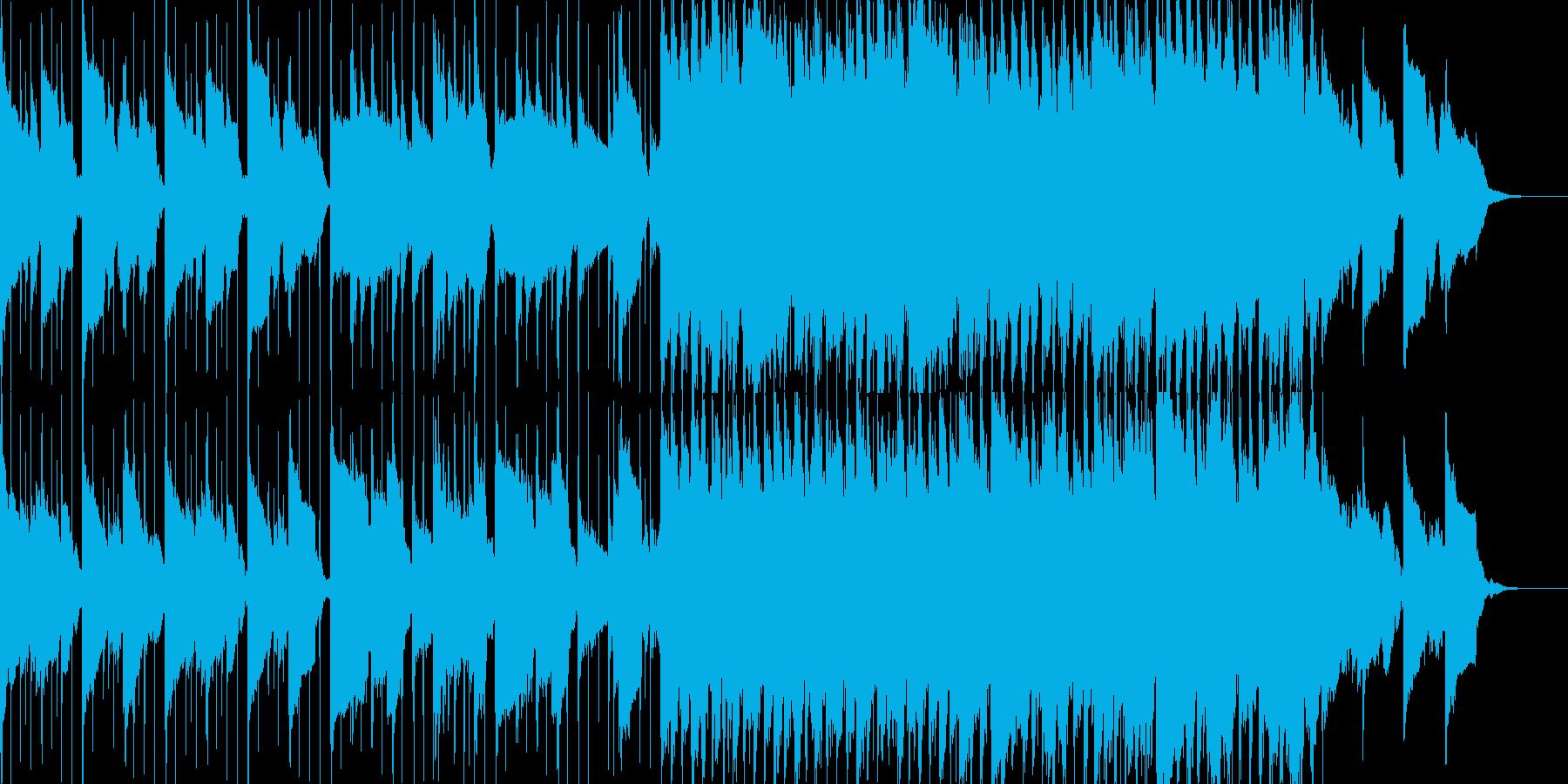 ゆったりした、わくわく感あるBGMの再生済みの波形