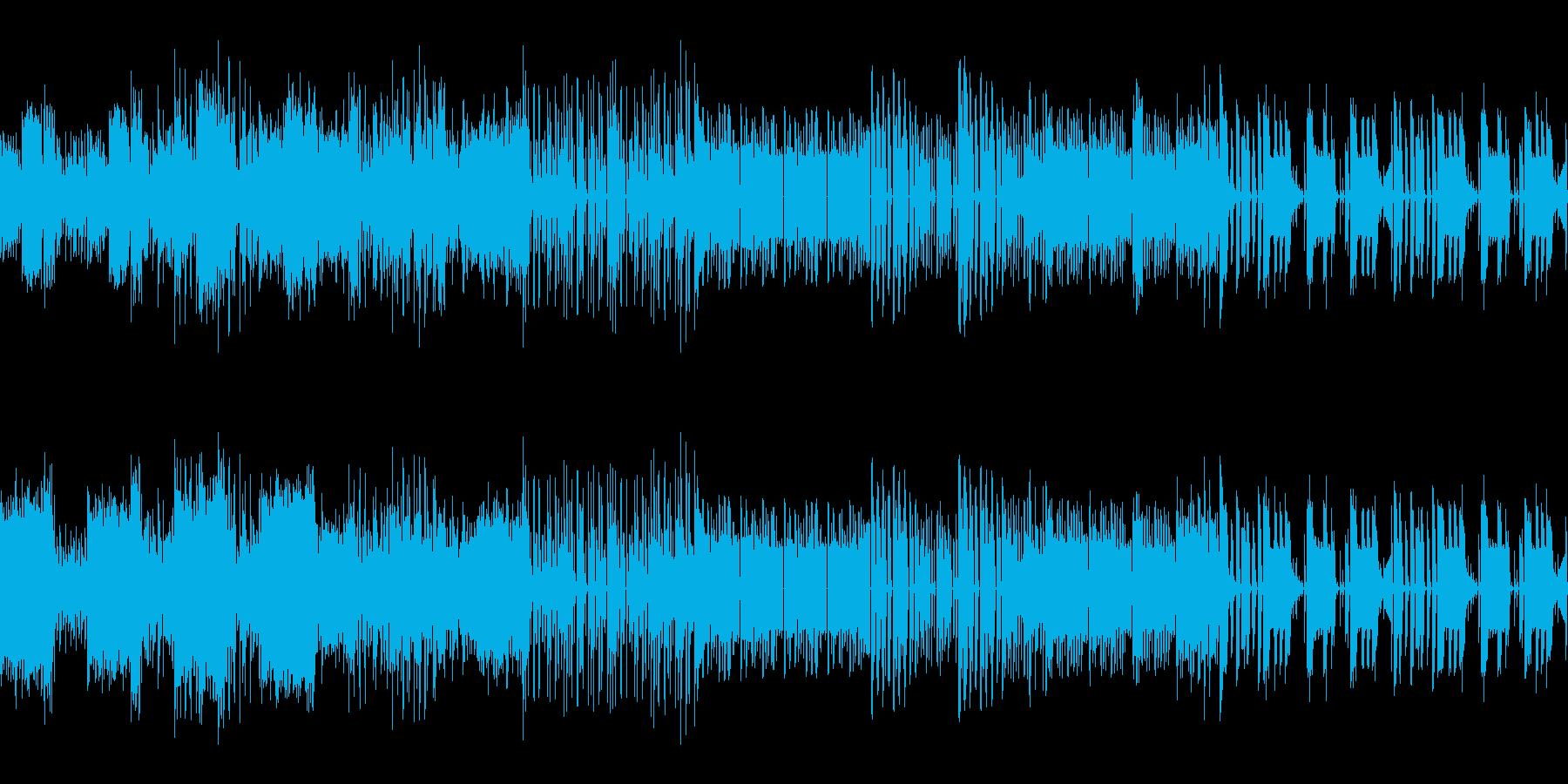 ビート重視のチップチューンの再生済みの波形