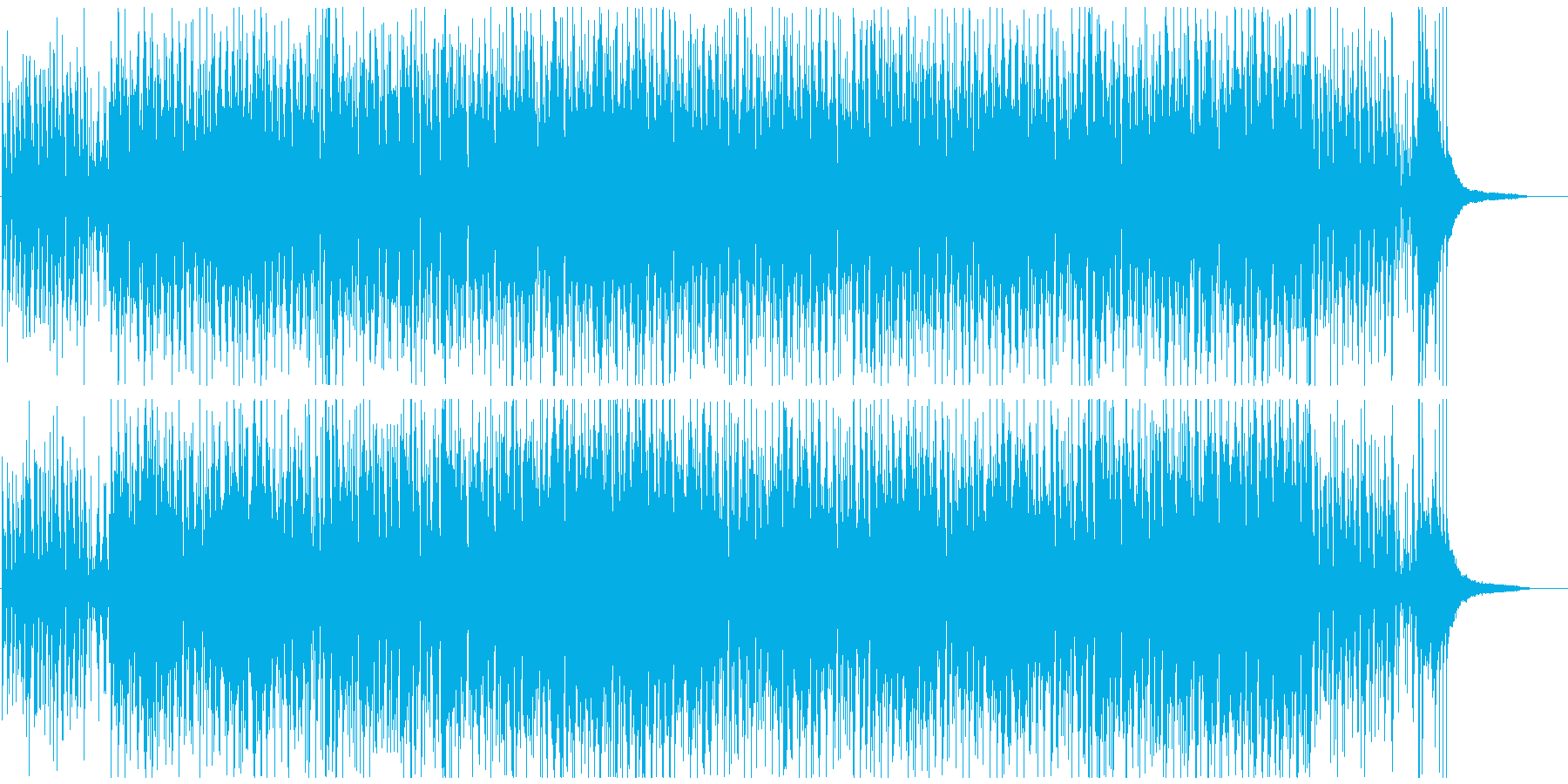 疾走感あるおしゃれなピアノジャズボサノバの再生済みの波形