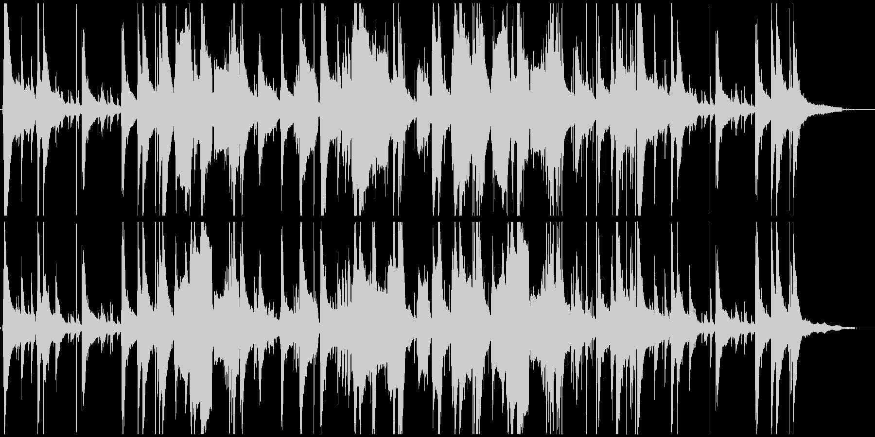 ハードボイルドな哀愁のあるゆったりジャズの未再生の波形