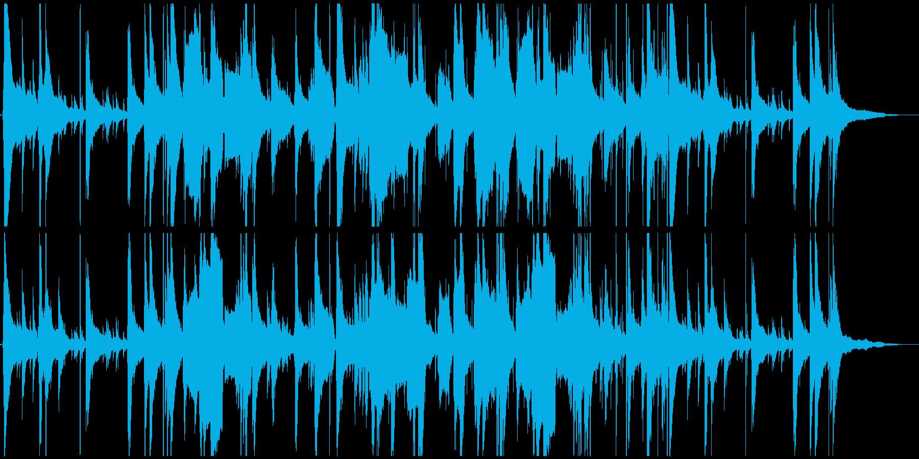 ハードボイルドな哀愁のあるゆったりジャズの再生済みの波形