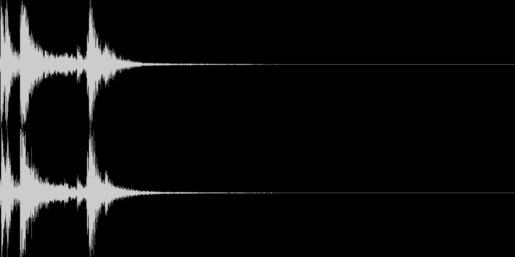 カラン(ダイアログ開く)の未再生の波形