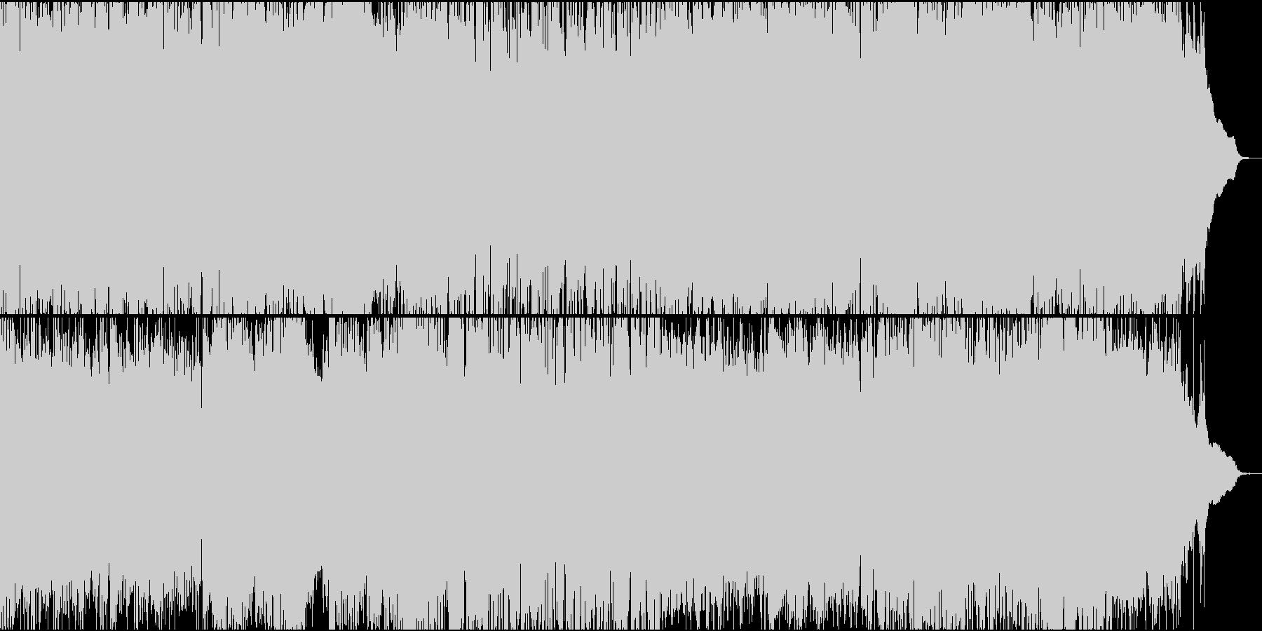 ピアノメロディの壮大で冒険的なBGMの未再生の波形