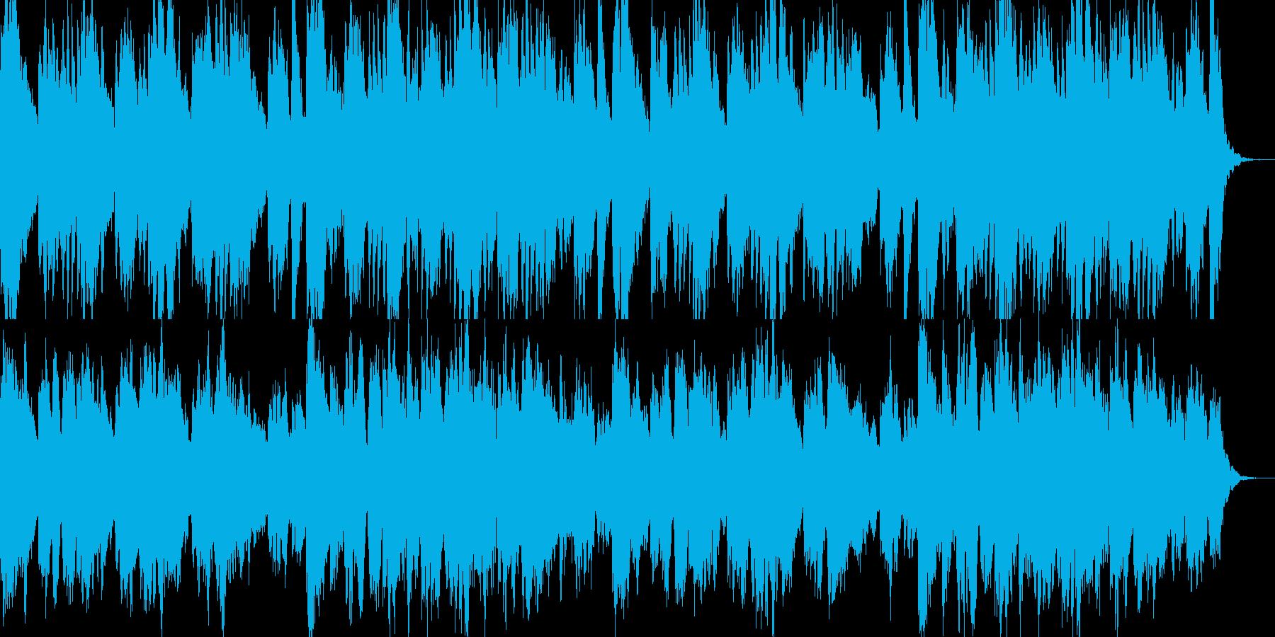 ゆったりした優しいアンビエントピアノの再生済みの波形