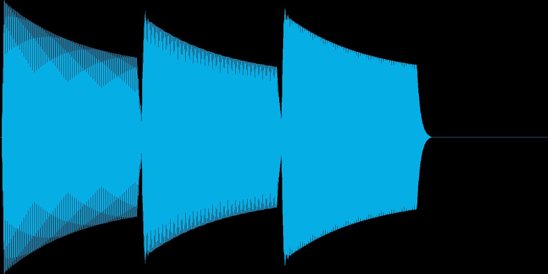 ピコラーン(click_003_決定)の再生済みの波形
