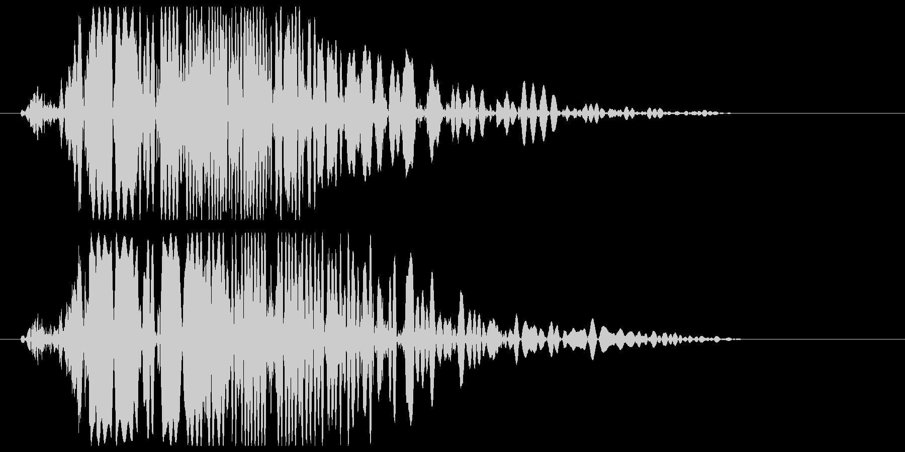 ボコッ (強めの打撃音)の未再生の波形