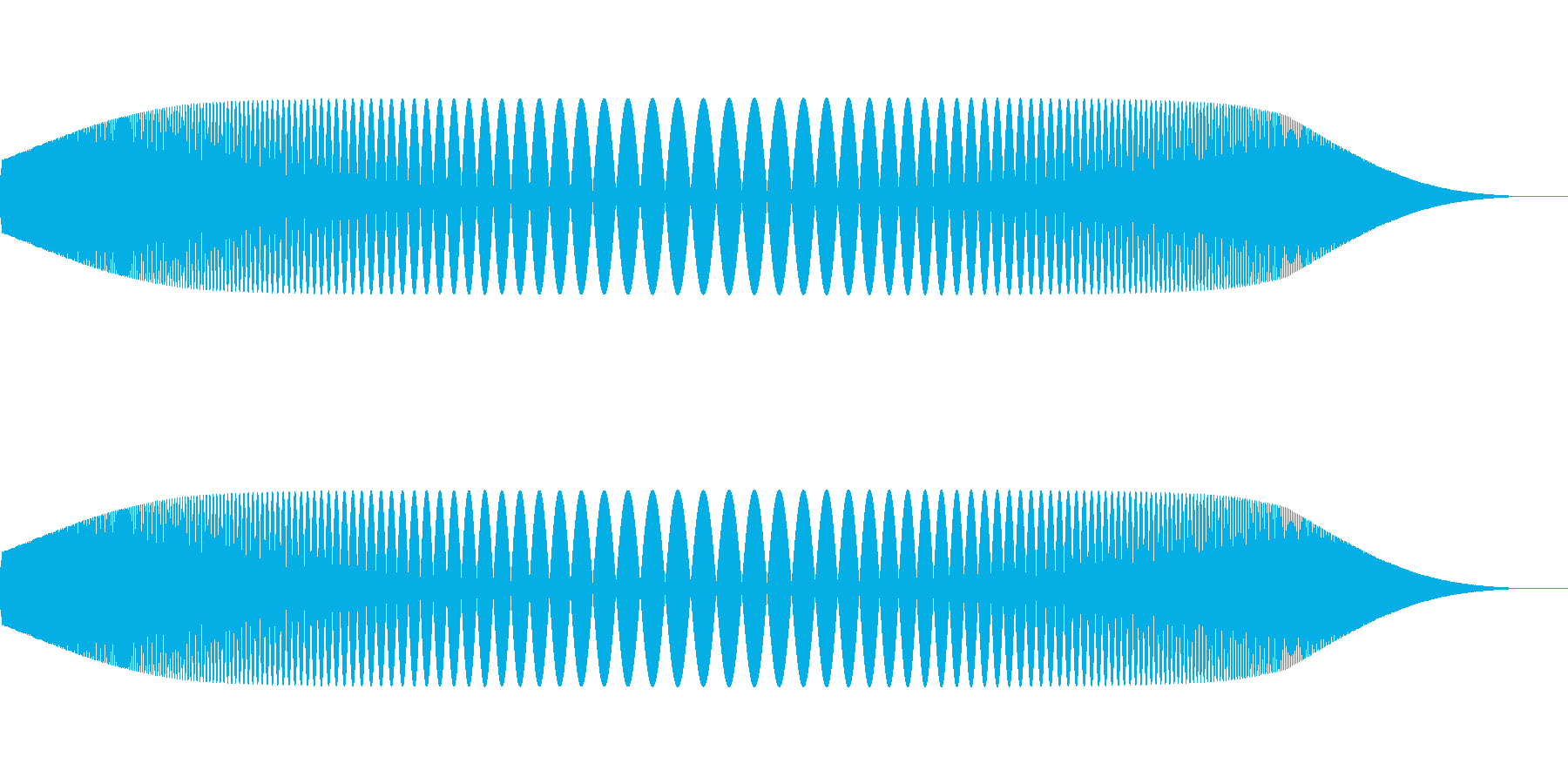 プニュ(柔らかいものを触ったような音)の再生済みの波形