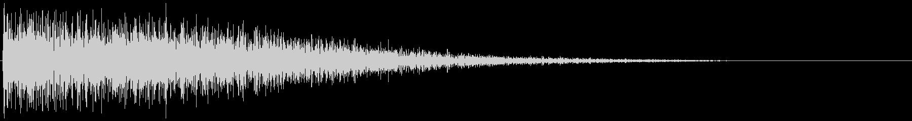 昭和の特撮にありそうな衝撃音(パーン)の未再生の波形