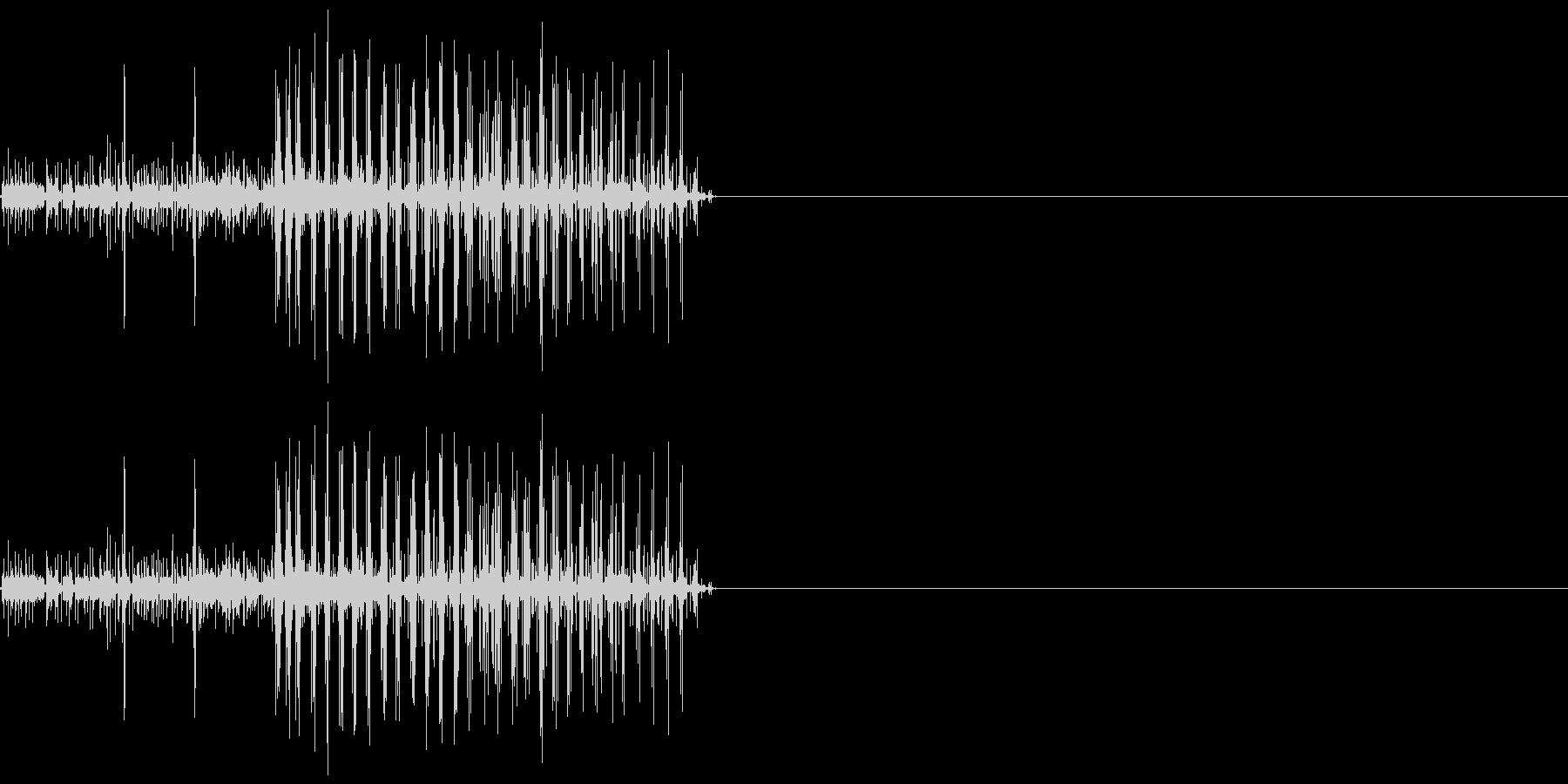 ビリリ! 短い電撃音4の未再生の波形