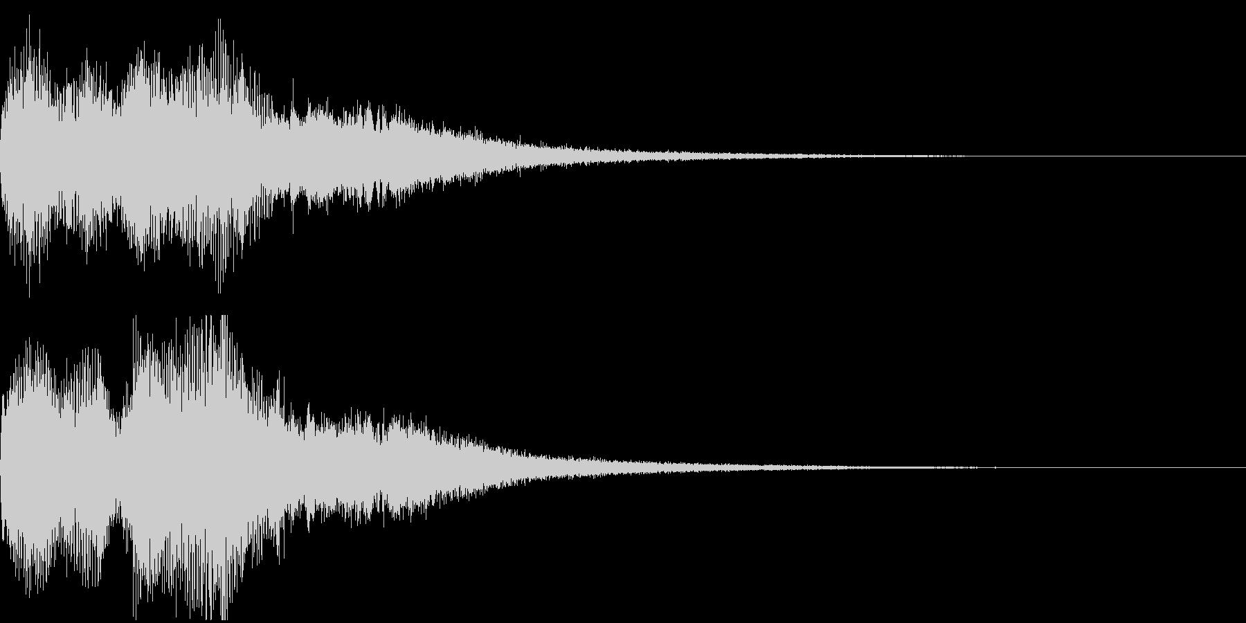 ミッションクリア、壮大なファンファーレの未再生の波形