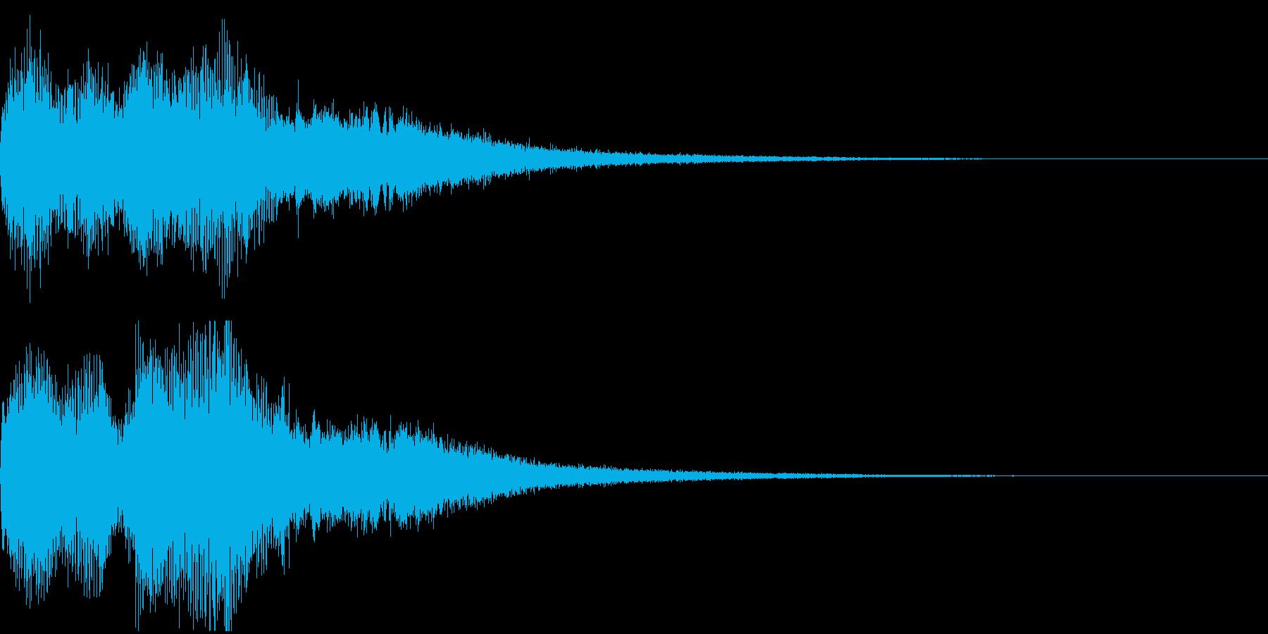 ミッションクリア、壮大なファンファーレの再生済みの波形