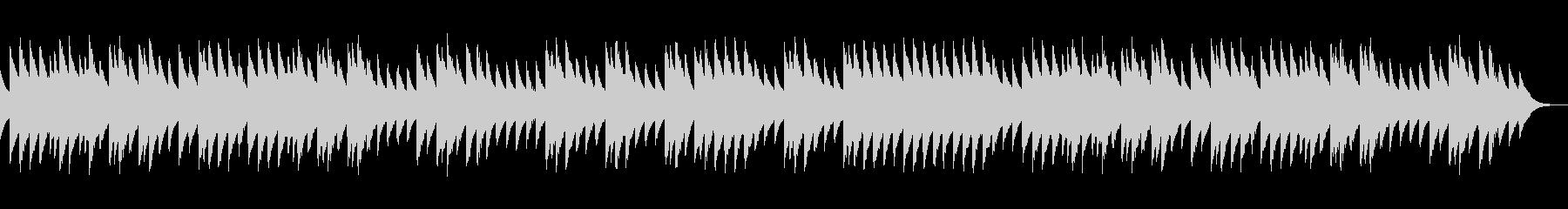 ほのぼのとした三拍子のオルゴール曲の未再生の波形