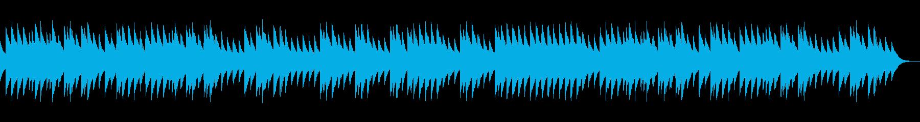 ほのぼのとした三拍子のオルゴール曲の再生済みの波形